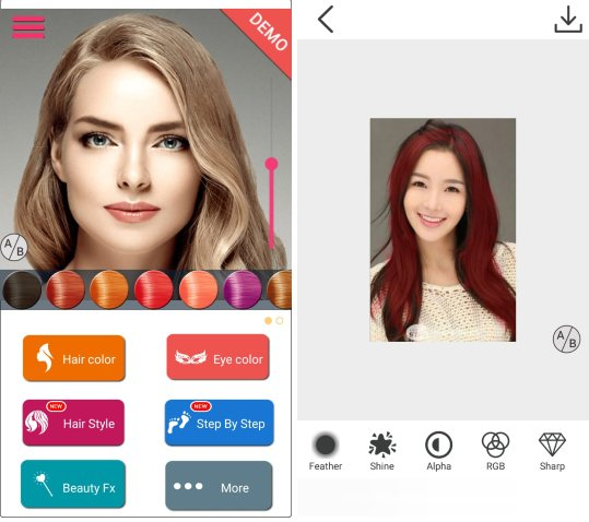 free hair color changer app