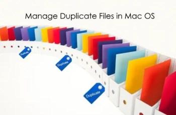 manage duplicate files in mac os