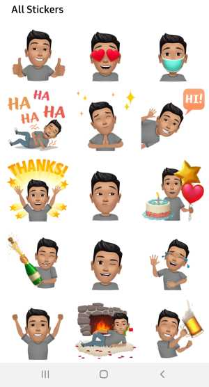 personalize facebook avatar stickers
