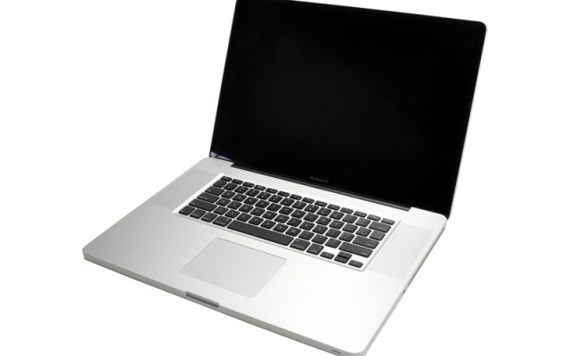 picture of laptop that is not powering on and has a blank screen