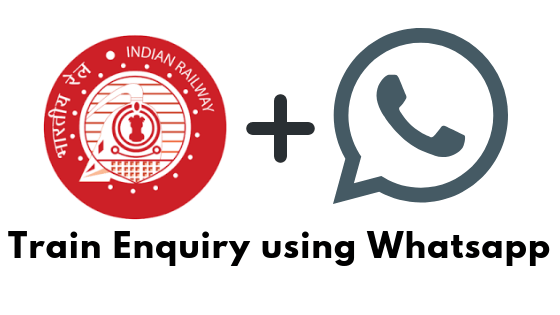 Check Train Enquiry using WHatsapp
