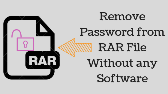 Remove RAR file Password without Software