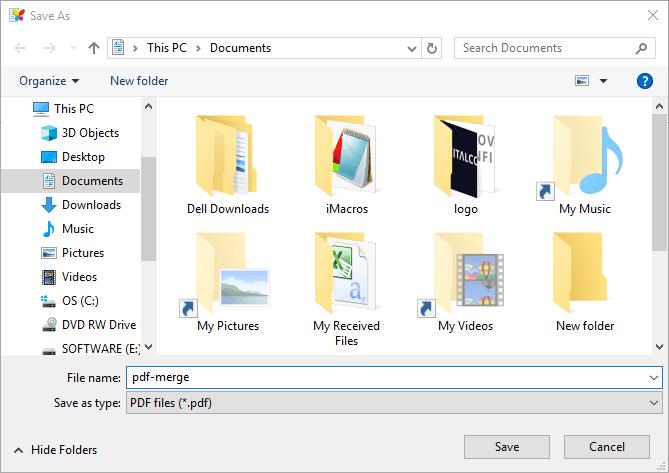 Combine and Merge PDF Files