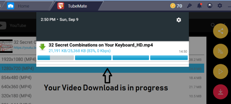 Download Tubemate app