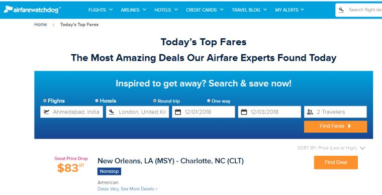 Flight Price Predictor Tool and Website