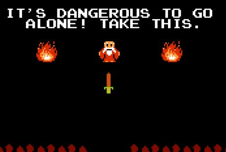 Image result for it's dangerous to go alone
