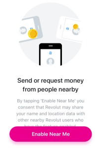 Revolut has a similar feature called 'Near Me'