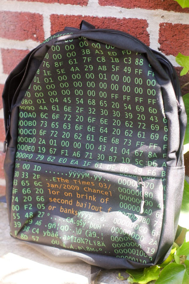 Bag Week 2018: The Bitcoin Genesis Block backpack will centralize your belongings