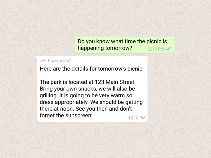 267721456948927 - WhatsApp now marks forwarded messages to curb the spread of deadly misinformation