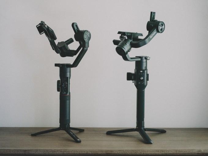 DJI Ronin-S and Zhiyun Crane 2