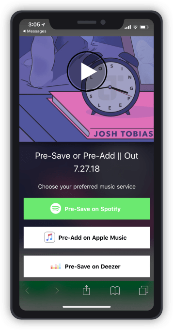 "Feature fm offers free ""pre-save"" tool for upcoming releases"
