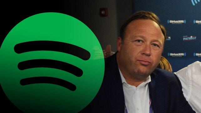 Spotify becomes the latest tech platform to reject Alex Jones