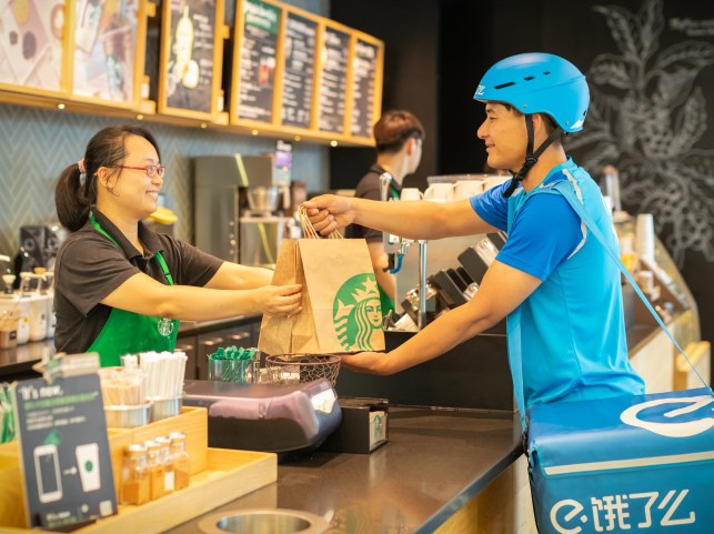 Starbucks partners with Alibaba on coffee delivery to boost China business