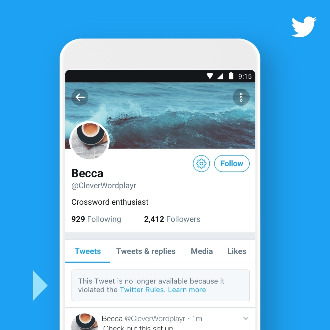 Twitter makes it easier to see enforcement taken on reported tweets