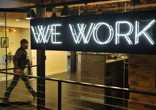 """WeWork"" co-operative co-working space on March 13, 2013 in Washington, DC"