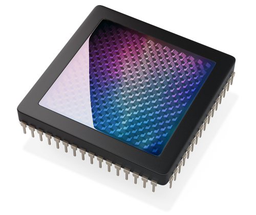 CG render of a lidar metamaterial chip.