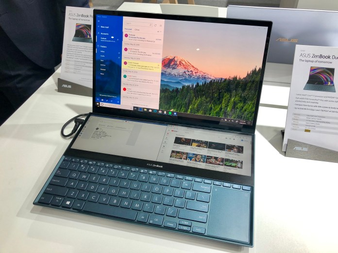 The dual-screen ASUS ZenBook Pro Duo, announced at Computex in Taipei