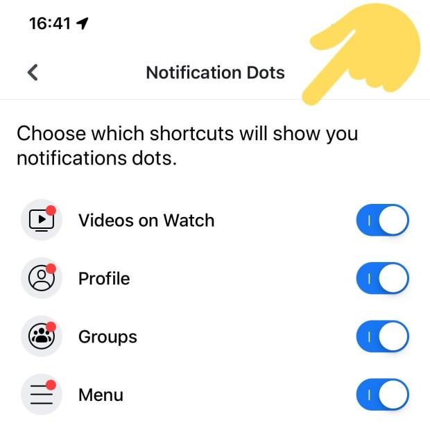 Turn Off Facebook Notification Dots
