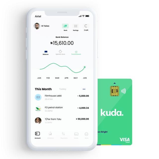 Kuda Transaction Screen Card