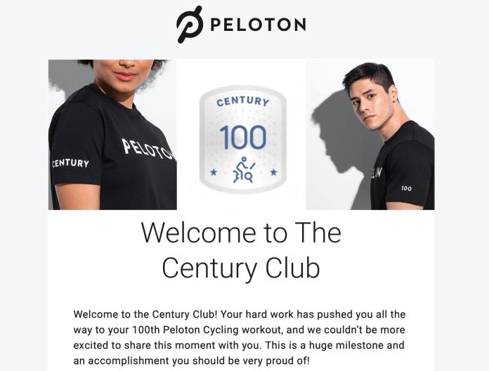 Peloton Century Club Free Shirt