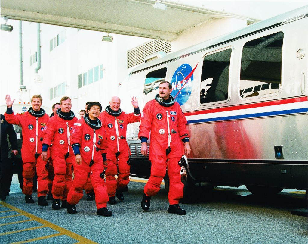 Astronauts and Astrovan NASA Photo