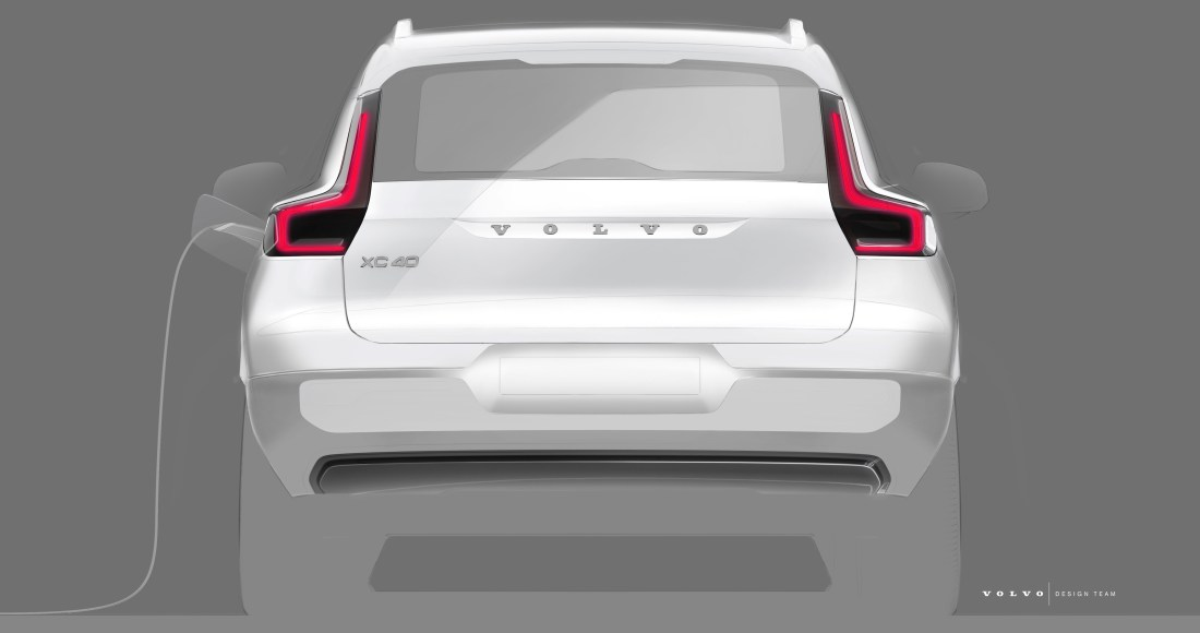 Design sketch of Volvo Cars fully electric XC40 SUV 4