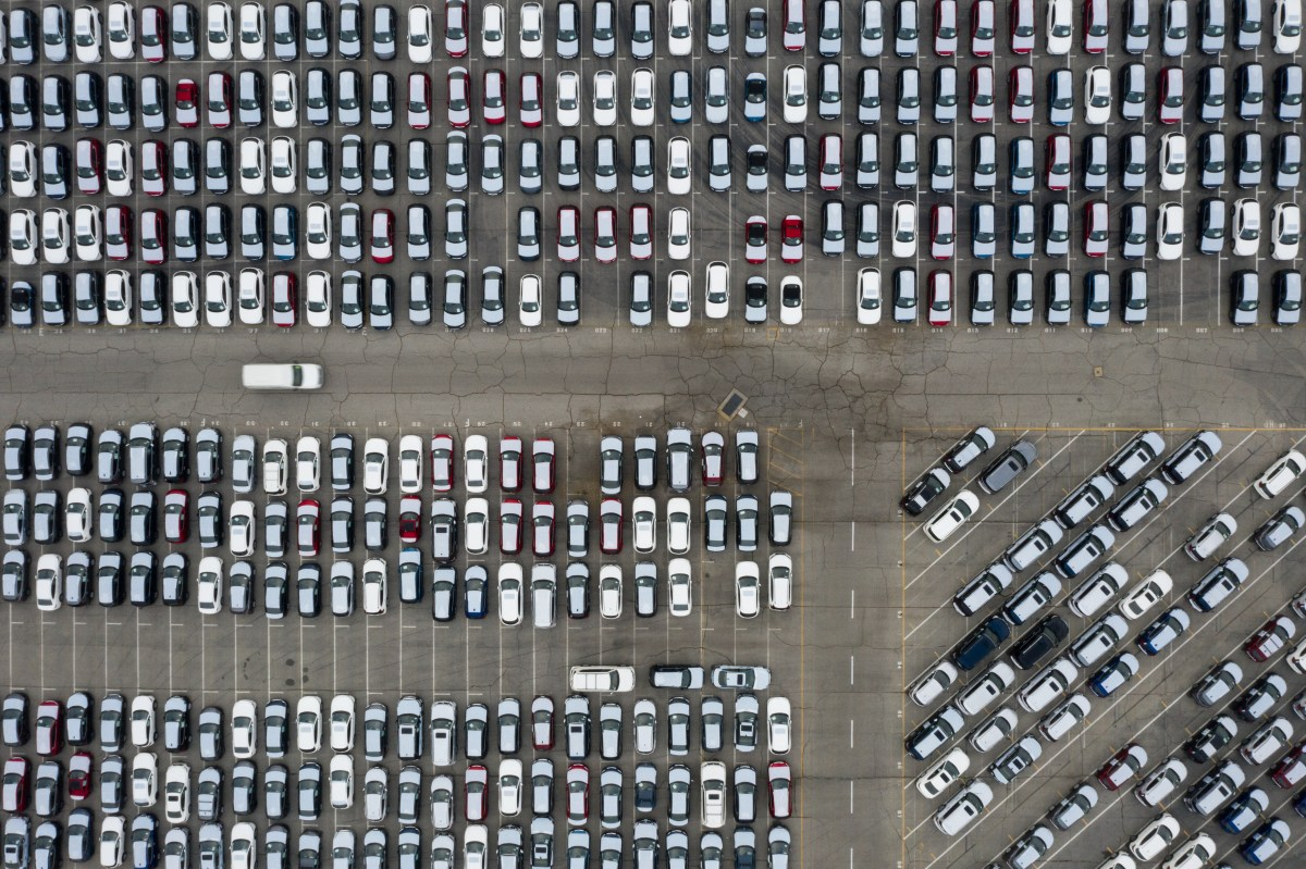 Slumping Auto Sales Cause Traffic Jam At Ports Swamped With Cars