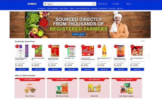 JioMart, the e-commerce venture from India's richest man, launches in additional cities