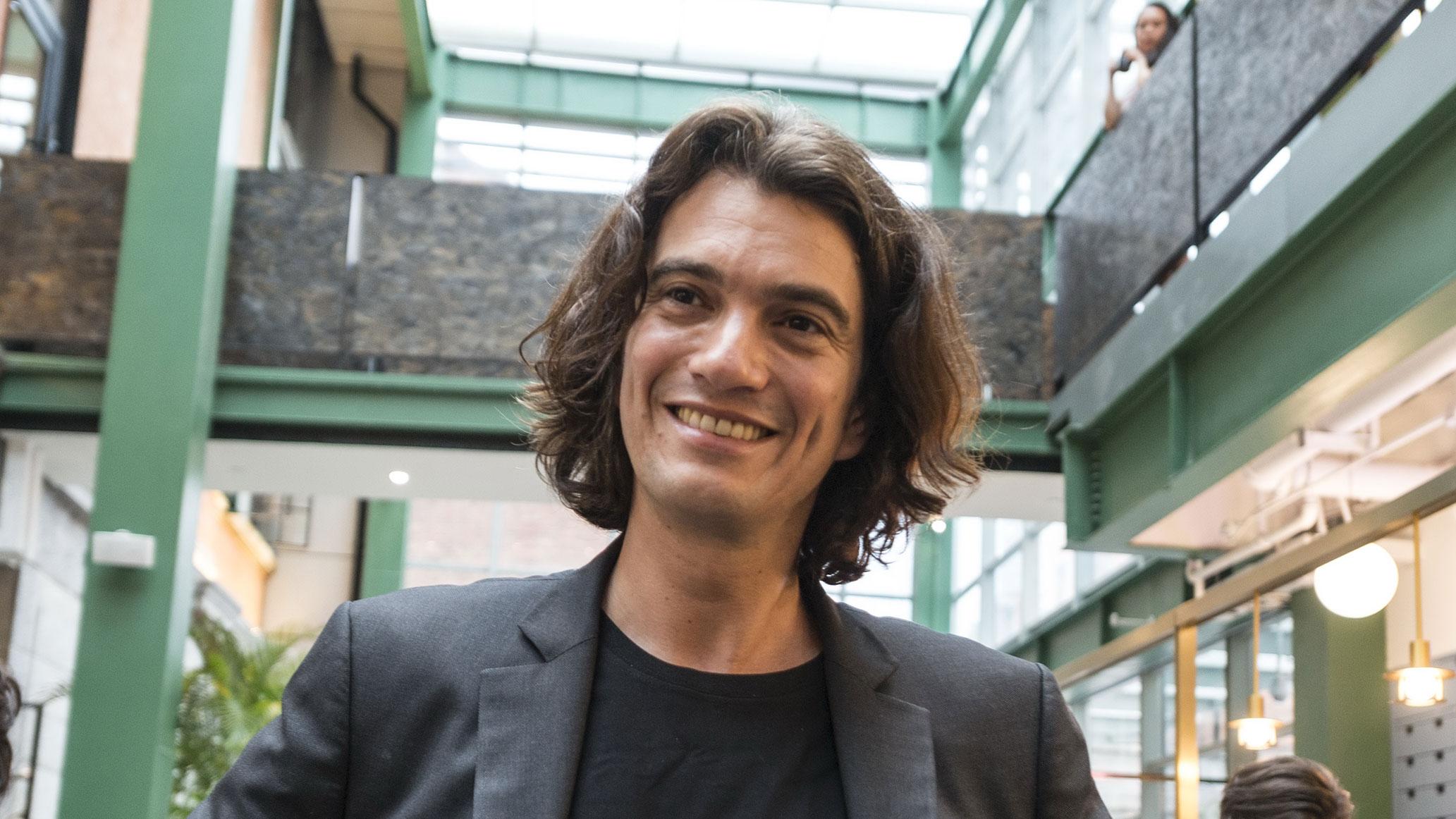 WeWork CEO Adam Neumann Visits Shanghai