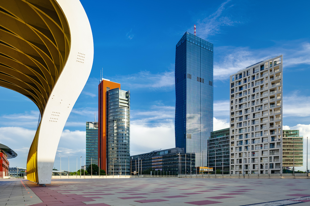 Donau City development area - Vienna, Austria