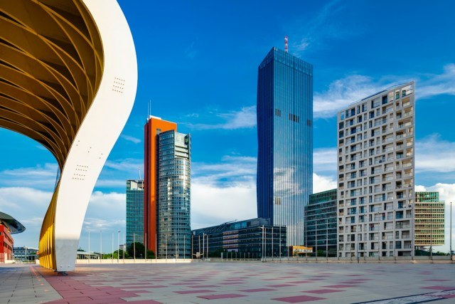 Donau City development area - Vienna, Austria