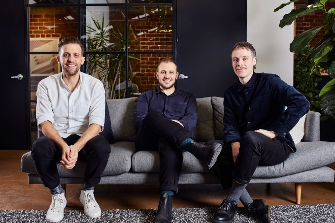 Linktree founders Anthony Zaccaria, Alex Zaccaria and Nick Humphreys
