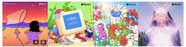 Иконки новых плейлистов от Apple Music