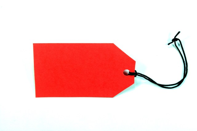Blank Sale Tag on white background.