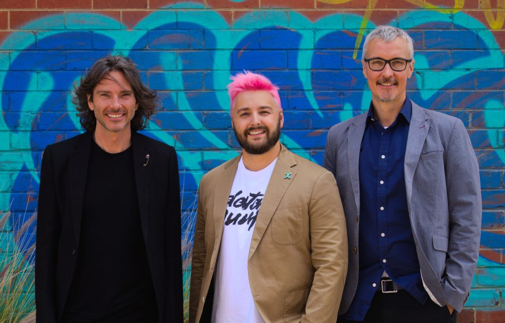 Left to right: Lexer founders Dave Whittle, Aaron Wallis, Chris Brewer