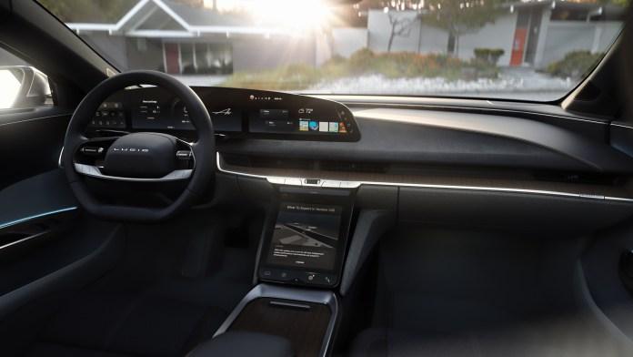Lucid Motors interior cabin