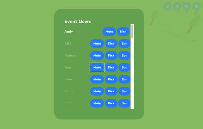 Skittish mod tools (mute, kick, ban buttons)
