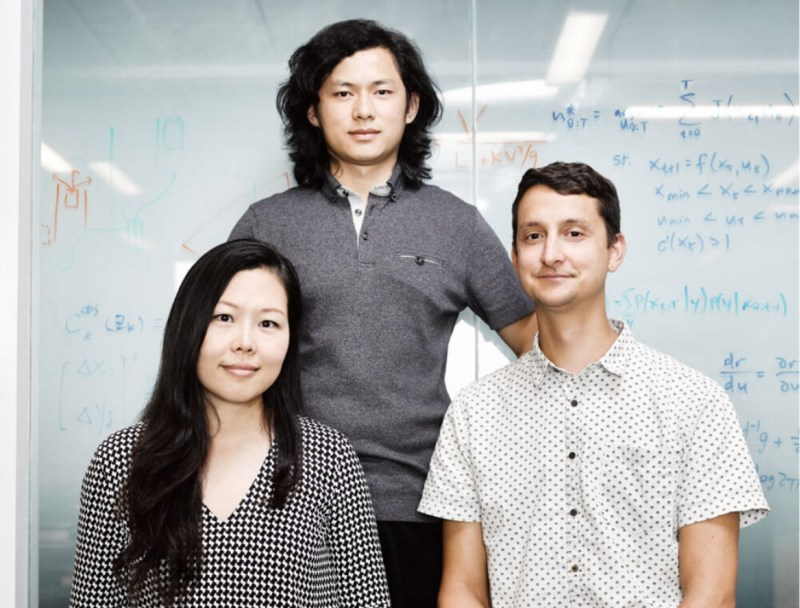 ISEE co-founders Yibiao Zhao (top), Debbie Yu (left), and Chris Baker.