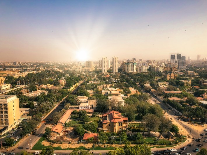 Image of the Karachi, Pakistan, skyline.