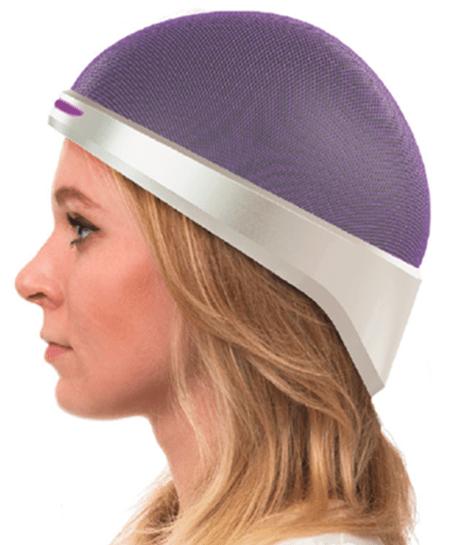 Image of a woman wearing the Luminate headset.