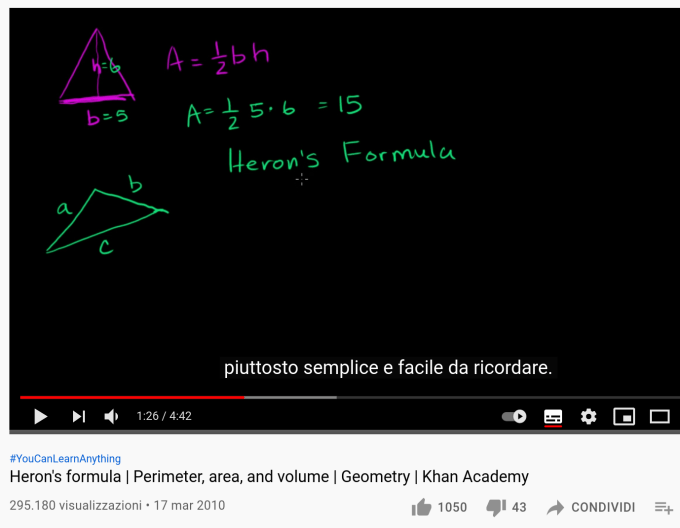 an example of non-native language subtitles on a video