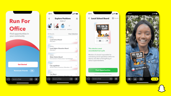 Snapchat rolls out new tool aimed at helping young users run for office – TechCrunch