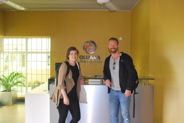 Picture of Nina Martin and Tomi Kaukinen from Shortcut School of startup - Heartland Incubation Hub makes History