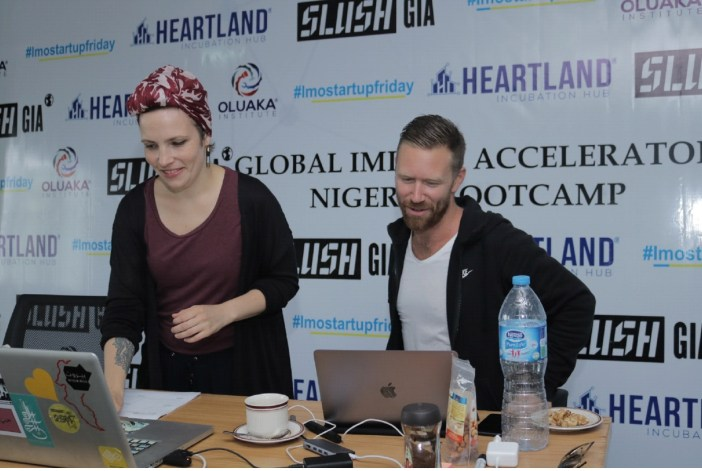 Nina Martin and Tomi Kaukinen During the Workshop