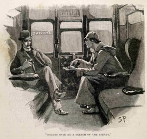Sherlock Holmes and Doctor Watson, in an illustration by Sidney Paget