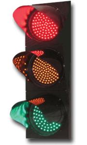 An LED traffic light