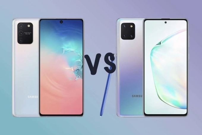 Samsung Galaxy S10 Lite vs Galaxy Note 10 Lite