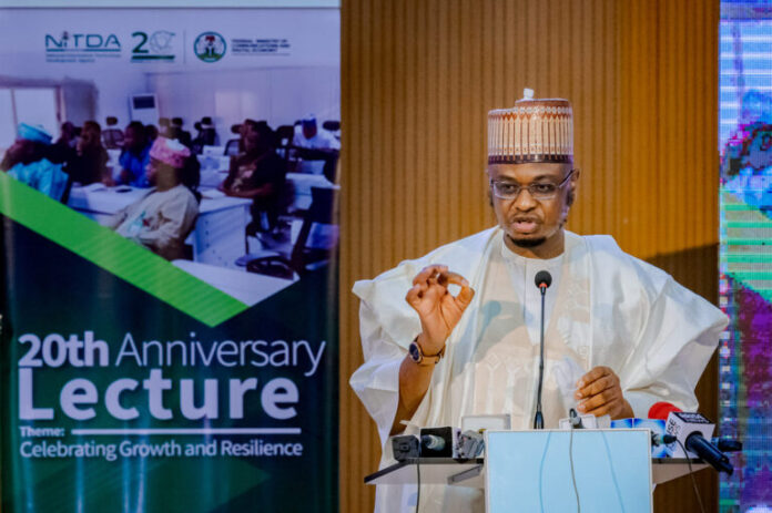 NITDA roadmap Minister of Communications and Digital Economy, Dr Isa Ali Ibrahim (Pantami) delivering a special remarks at the NITDA's 20th Anniversary Public Lecture and unveiling of NITDA's Strategic Road Map & Action Plan 2021 — 2024