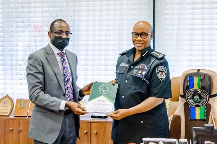 L-r: Kashifu Inuwa Abdullahi, director general, National Information Technology Development Agency (NITDA) and Usman Alkali Baba, Inspector General of Police (IGP),