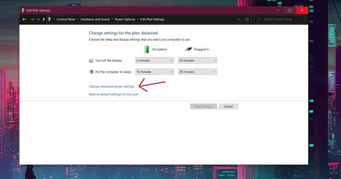 Advanced Power Settings -Laptop Awake With The Lid Closed